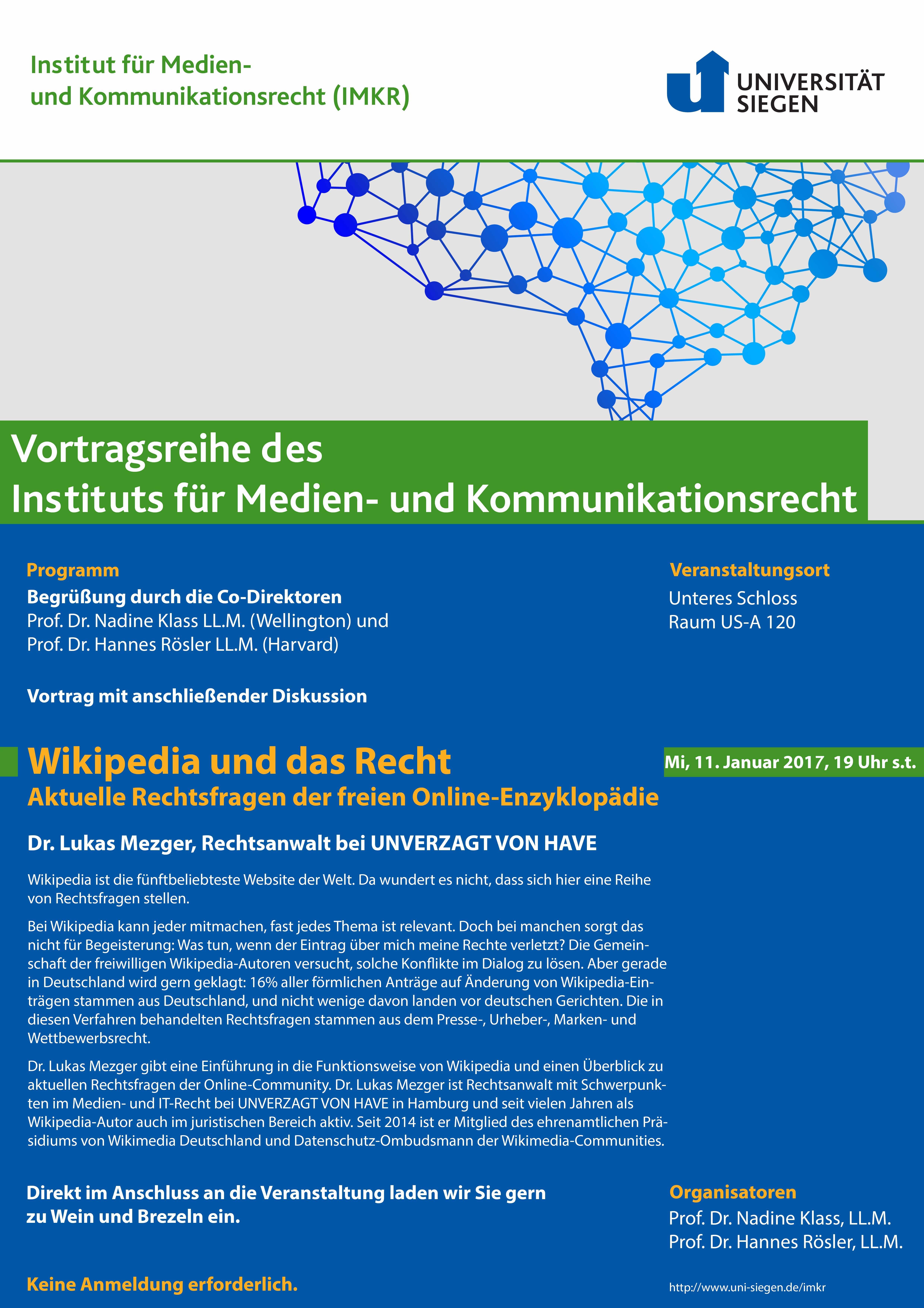Aktuelles | Institut für Medien- und Kommunikationsrecht