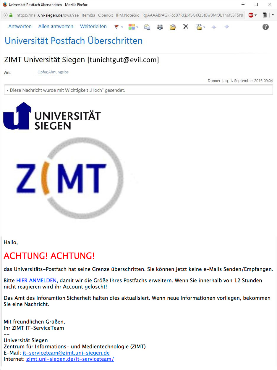 Uni Siegen Webmail