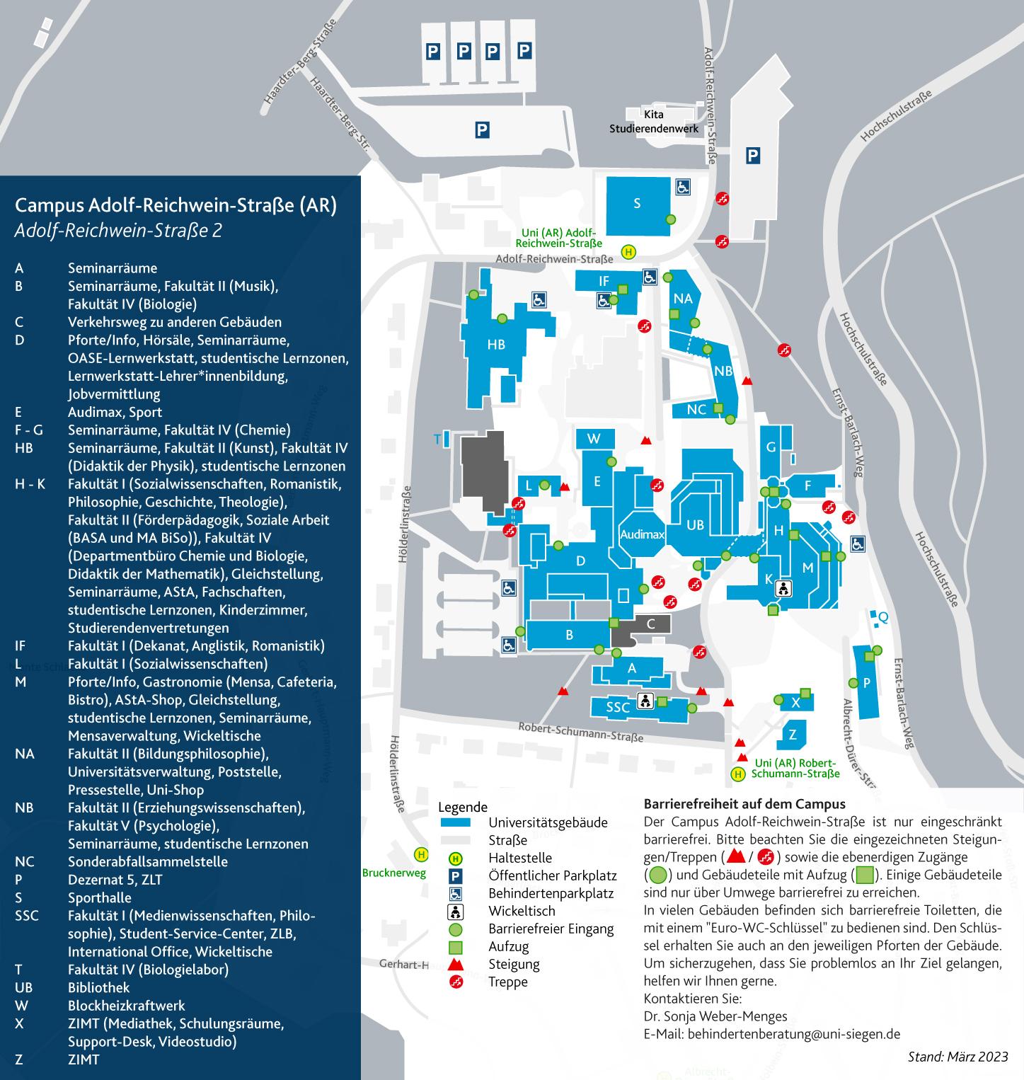 Campus Adolf-Reichwein-Straße (AR) | Universität Siegen