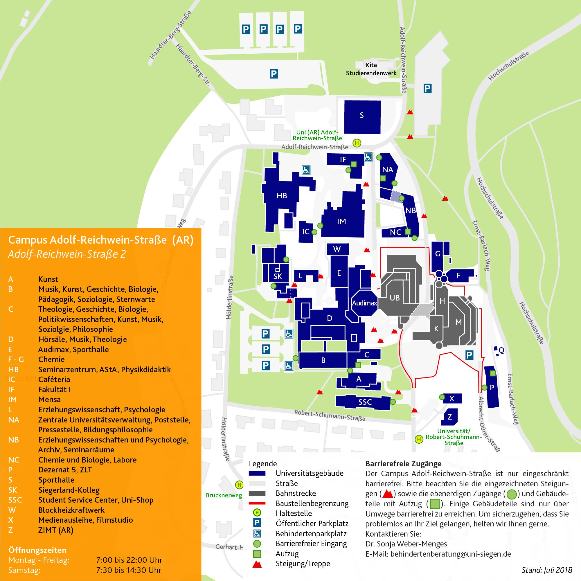 Lageplan Adolf-Reichwein-Straße